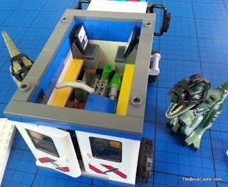 Jurassic World LEGO inside mobile vet unit