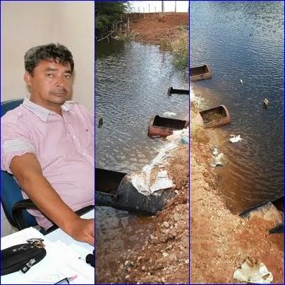 Defesa Civil de Pendências solicita remoção de tamponagem da Camboa dos Vaqueiros (Potiporã).