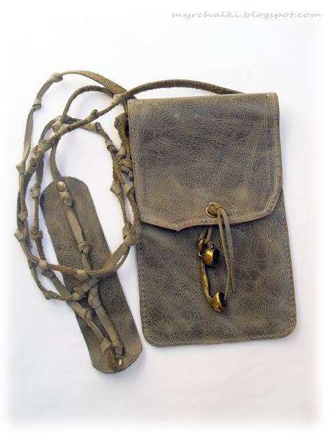 кожаная сумочка-чехол для телефона своими руками