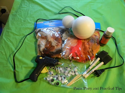 Supplies need to make a craft turkey