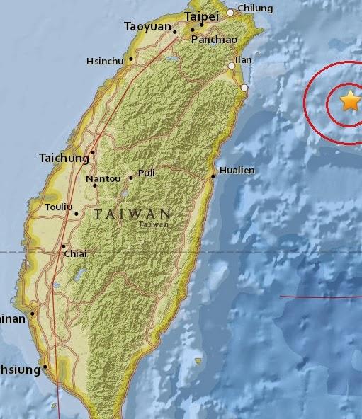 Magnitude 4.8 Earthquake of Yonakuni, Japan 2015-04-06