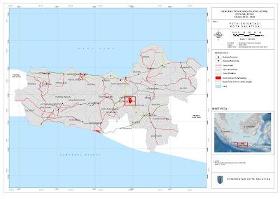 Peta Orientasi Kota Salatiga Dalam Provinsi Jawa Tengah