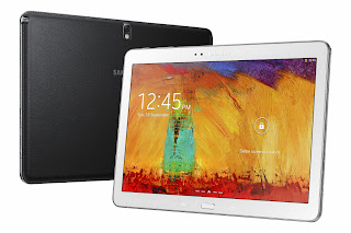amsung Galaxy Note 10.1 (2014 Edition) It sports super clear LCD display having 2560x1600p resolution and run on new Android v4.3 Jelly Bean OS.