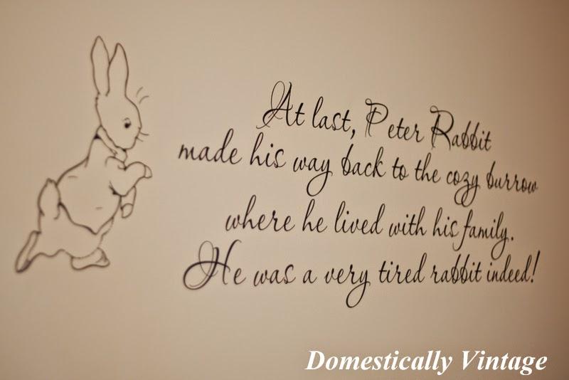 Domestically Vintage Beatrix Potter Nursery Reveal Part 1 Part 76