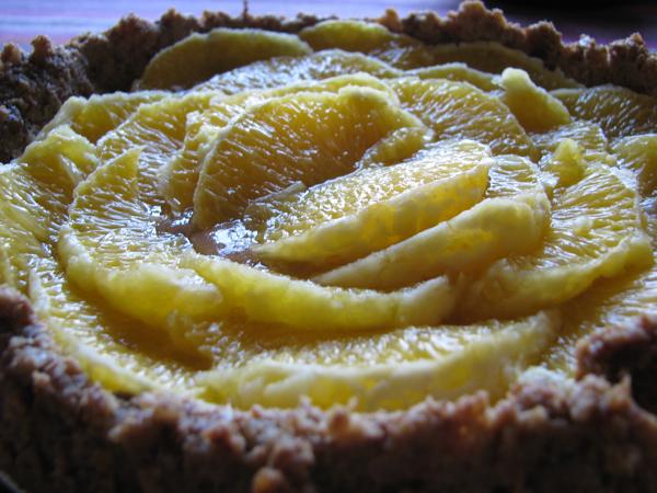 Апельсиновый полезный торт