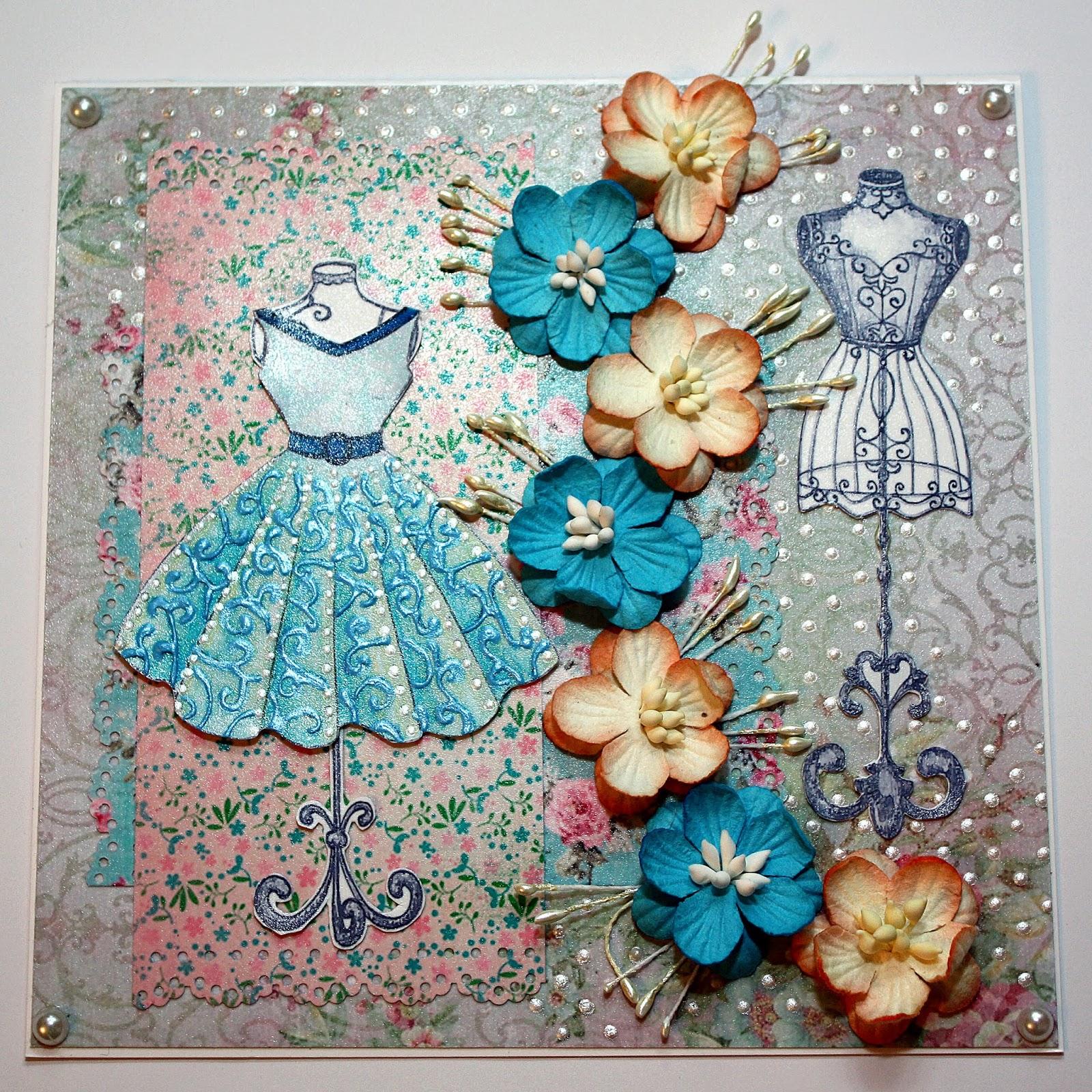 Платье скрапбукинг открытка 64