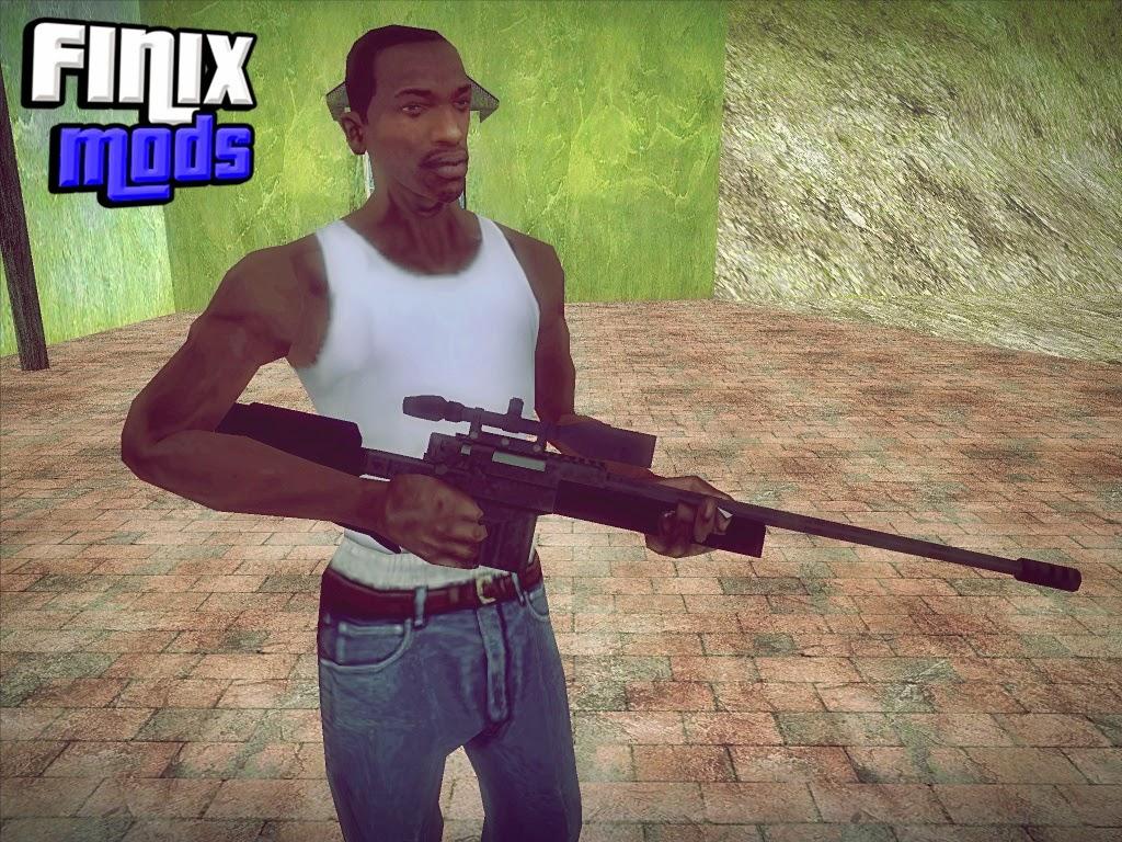 Sniper Rifle + Zoom Convertido do GTA V
