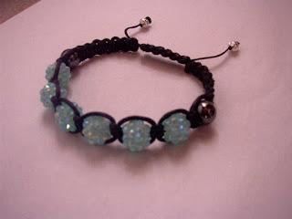 rhinestone blue sky shamballa bracelets