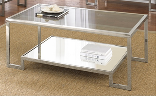 Overstock Cordele Chrome and Glass Coffee Table