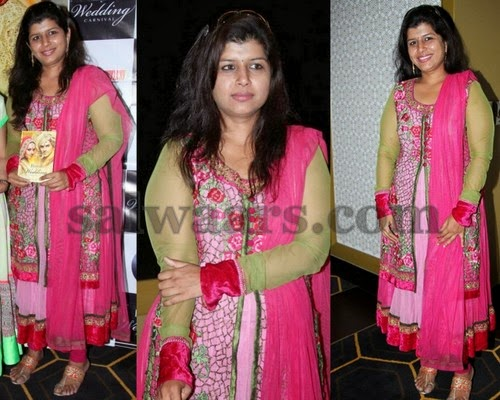 Nikitha Reddy in Fancy Work Salwar
