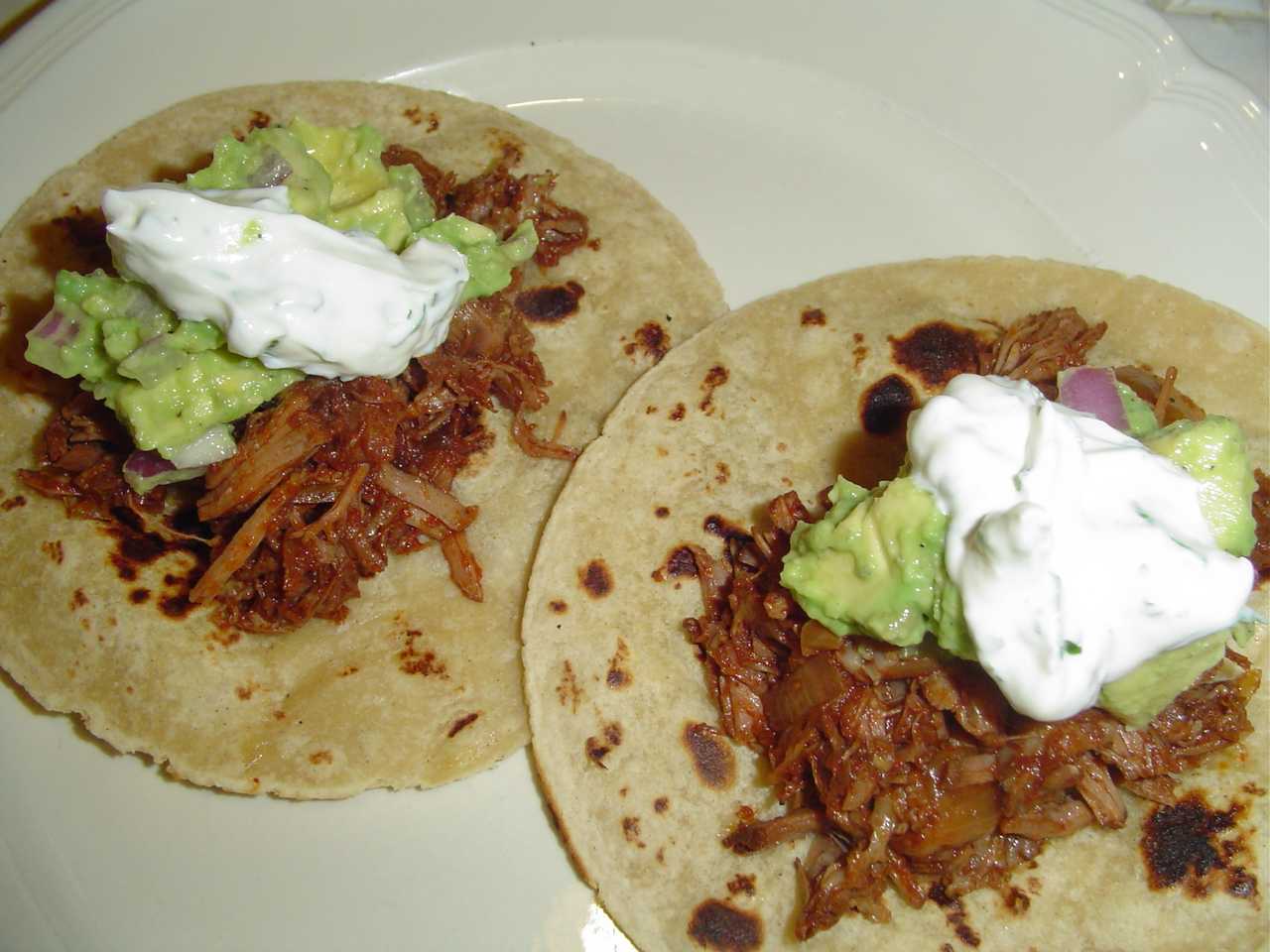 A Girl's Gotta Eat: Smoky Shredded Beef Tacos