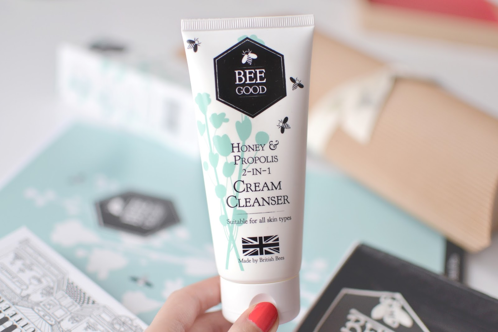 hot cloth cleanser, bee good cream cleanser, bee good honey and propolis