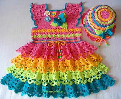 Crochet Dress for Girls