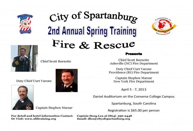 belton fire department  training announcement
