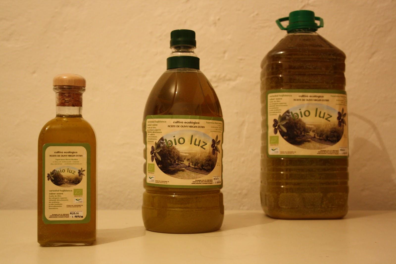 Aceite de oliva ecol gico bio luz - Luz de vida productos ecologicos ...