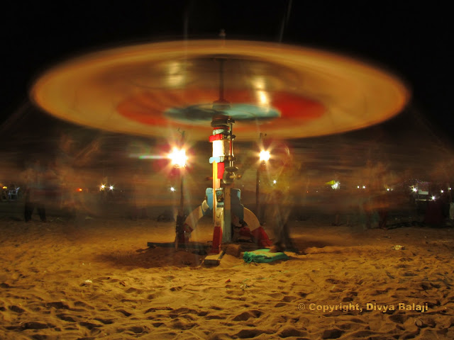 Merry Go Round - At the beach - Night - Slow shutter speed
