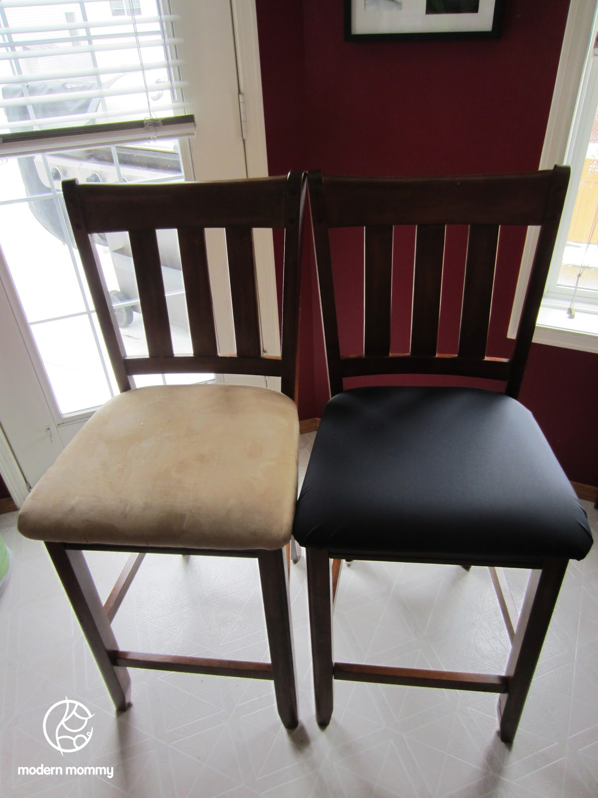 Home DIY: Reupholstered Dining Chairs