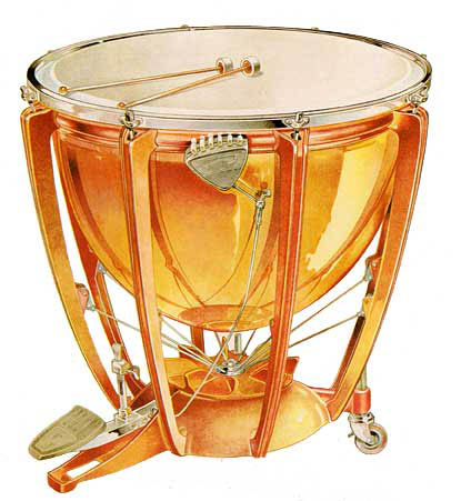 an introduction to the history of the first instrumental drum a timpani or kettledrums