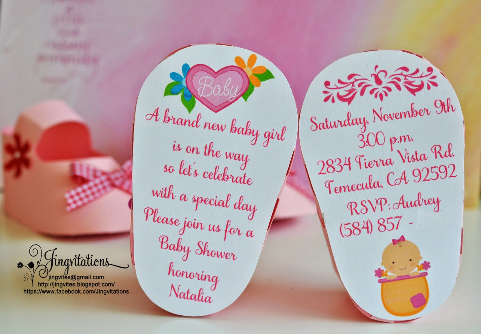 Jingvitations 3D Invitations Very Unique Baby Shoe Invites for