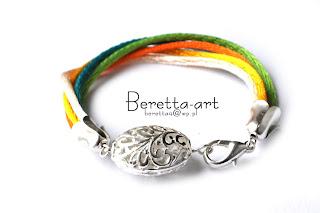 kolorowa bransoletka z koronkowym motywem