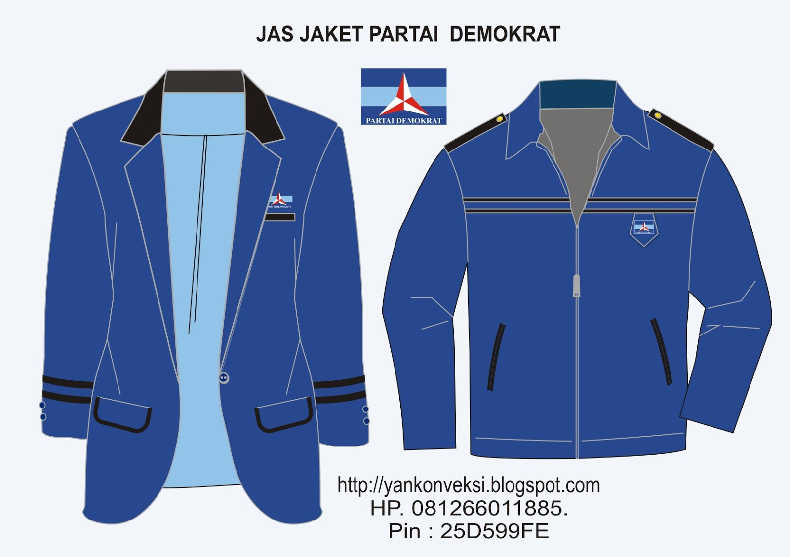 PESANAN JAS JAKET PENGURUS PARTAI DEMOKRAT
