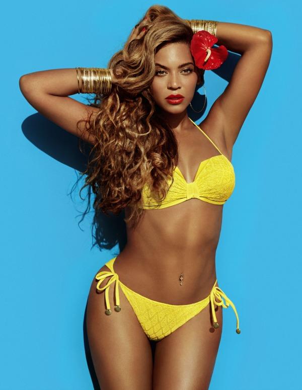 Beyoncé for H&M Summer 2013 - campaign yellow bikini