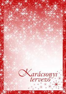 Karácsonyi tervezőlapok - 2014