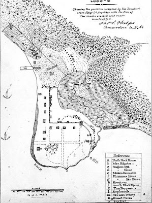 Map By Drawn by Lieutenant Thomas S. Phelps of the Decatur and photographed by an unknown photographer.