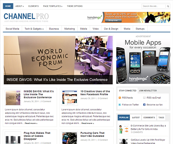 Share ChannelPro Blogger Template dành cho tin tức