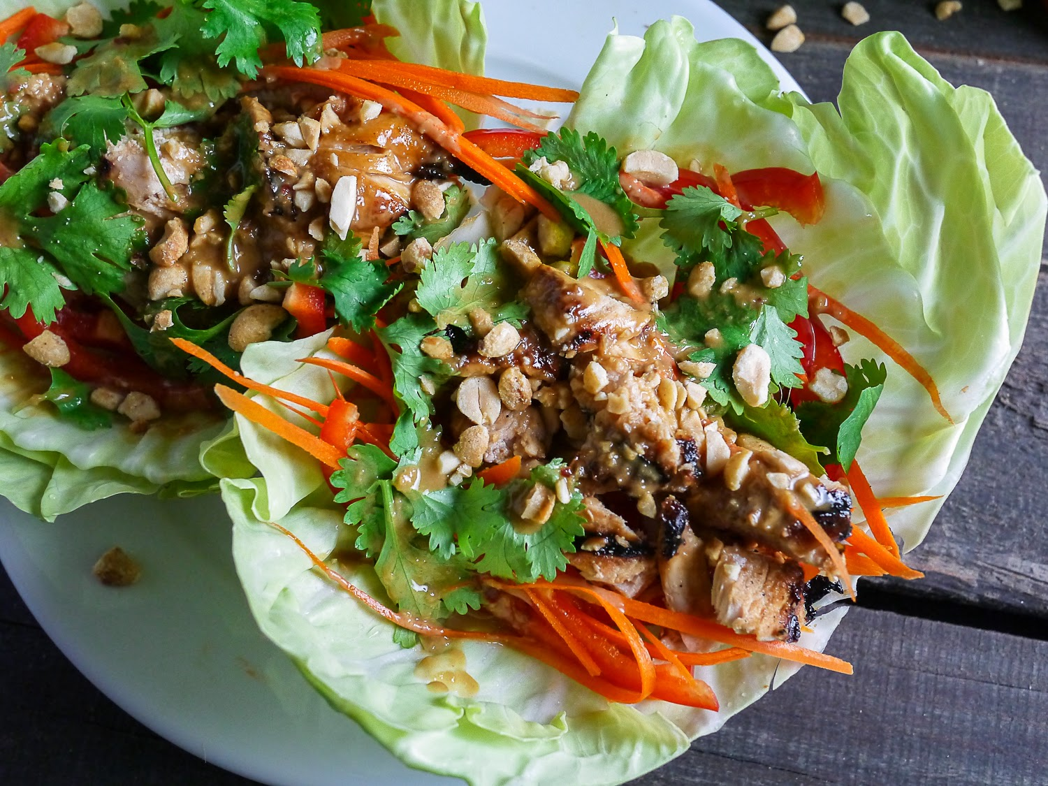 Barbells and Bellinis: Thai Chicken Tacos