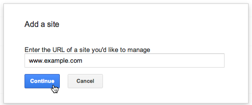 Google webmaster account