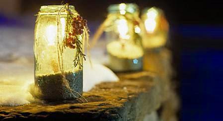 Candelabros de Navidad Con Materiales Reciclados