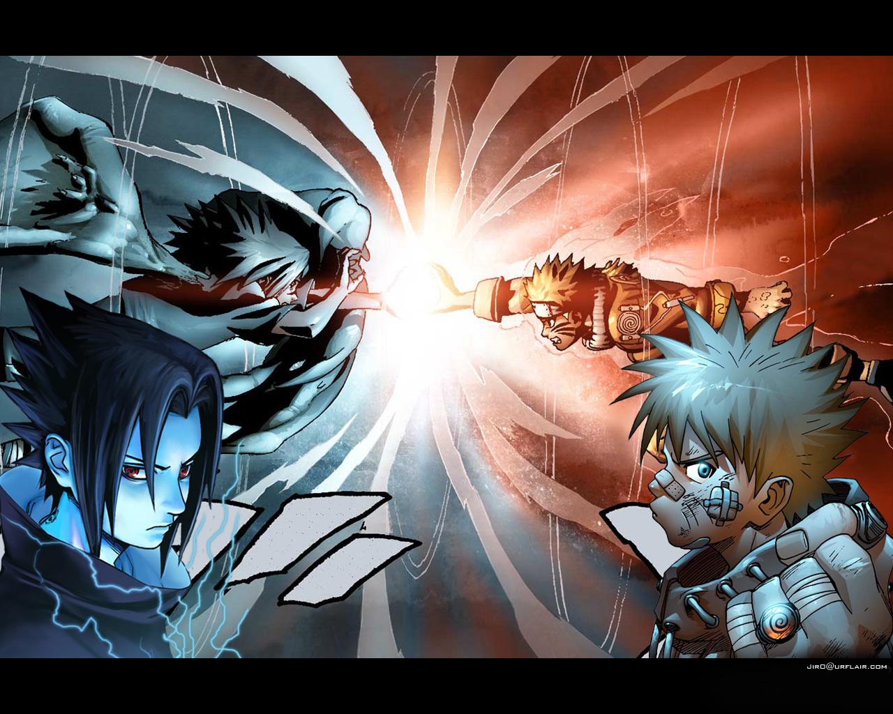 Gambar Foto Naruto Vs Sasuke Berubah Keren