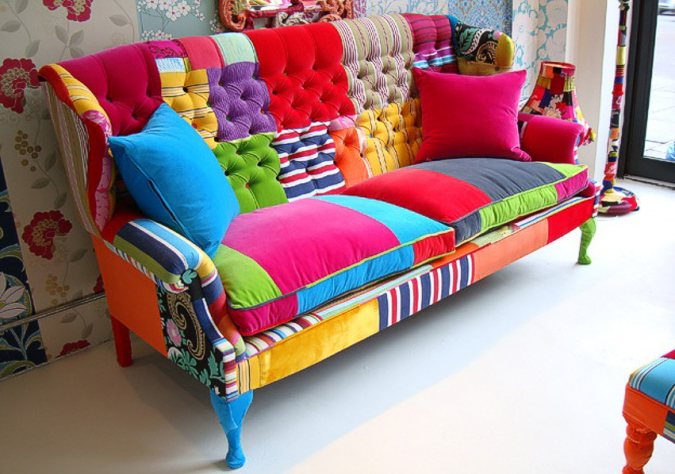 Quilts color perfect patchwork furniture for Canape patchwork
