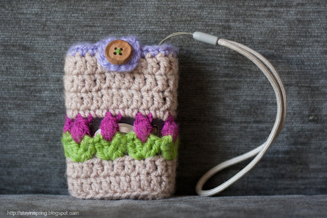 Crocheted camera cover