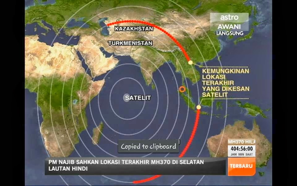 Russia Dakwa MH370 dirampas Tentera Laut US