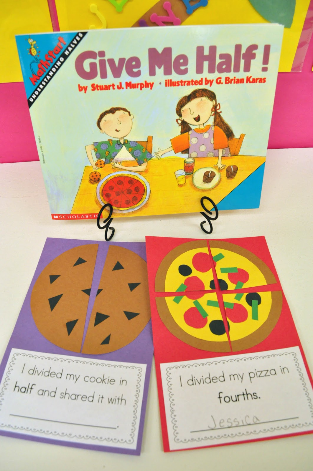 Yummy Fractions Freebie on Fair Sharing Kindergarten Worksheets