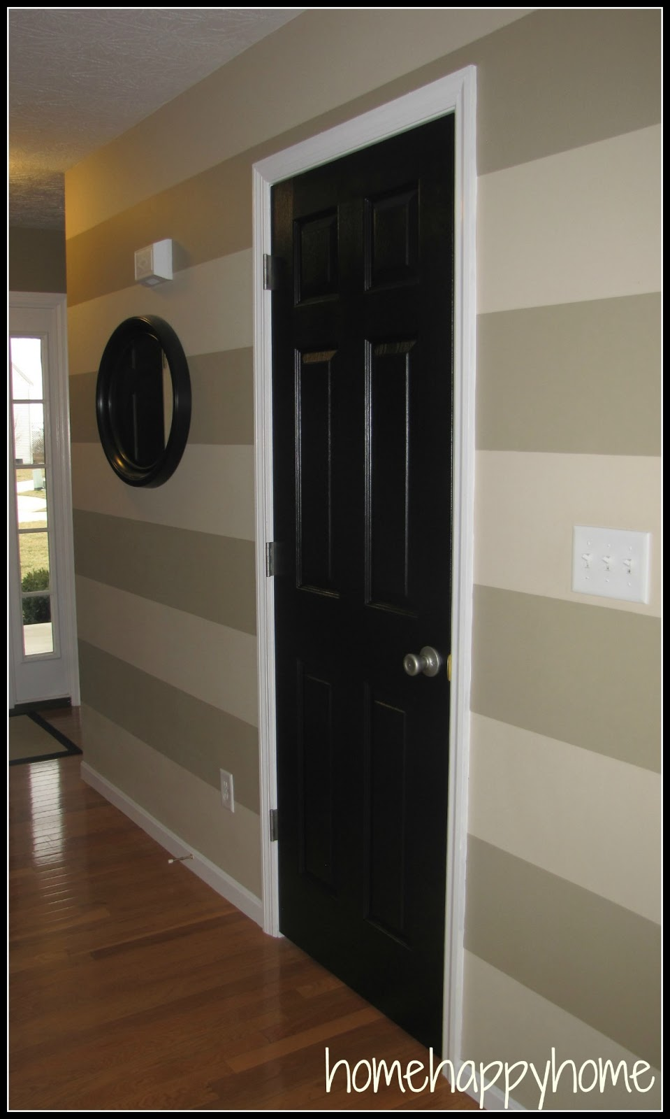 Painting Interior Doors Black Before And After Black