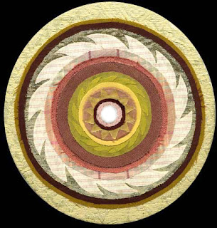 circular picture in fabrics