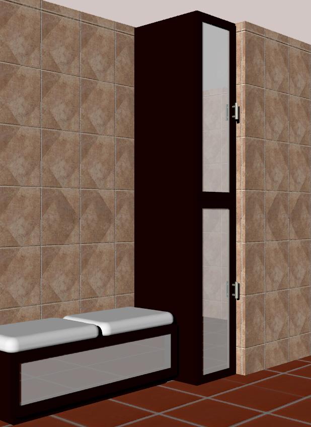 Mobiliario para baño, banca y mueble de almacenamiento  Diseño y