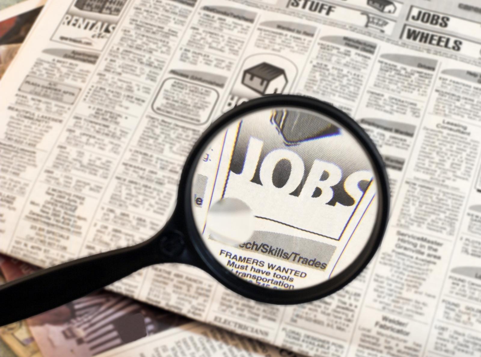 Hjælp mig med at finde et arbejde