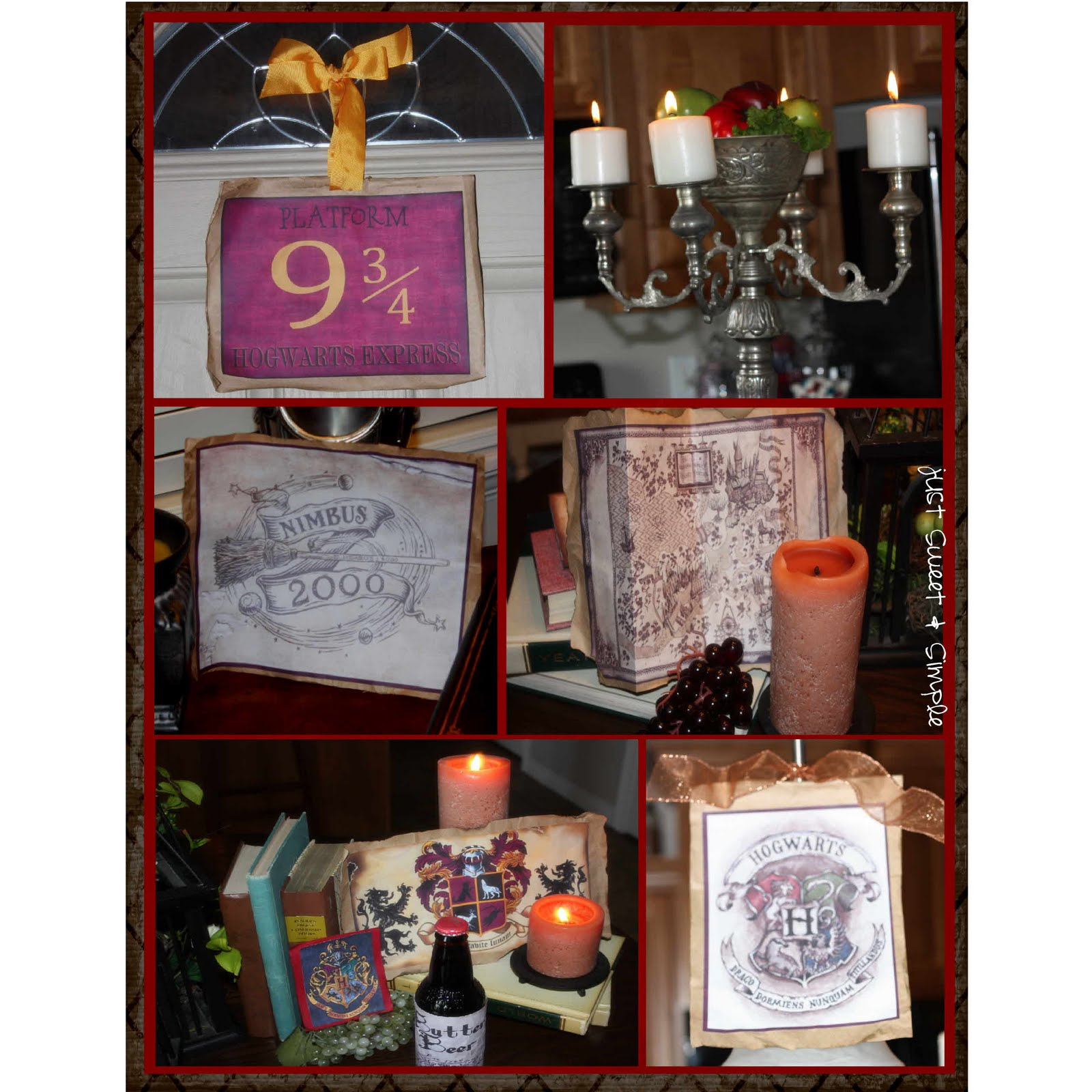 Just sweet and simple harry potter party for Decoration harry potter