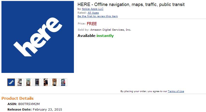 Here Maps Nokia Amazon App Store