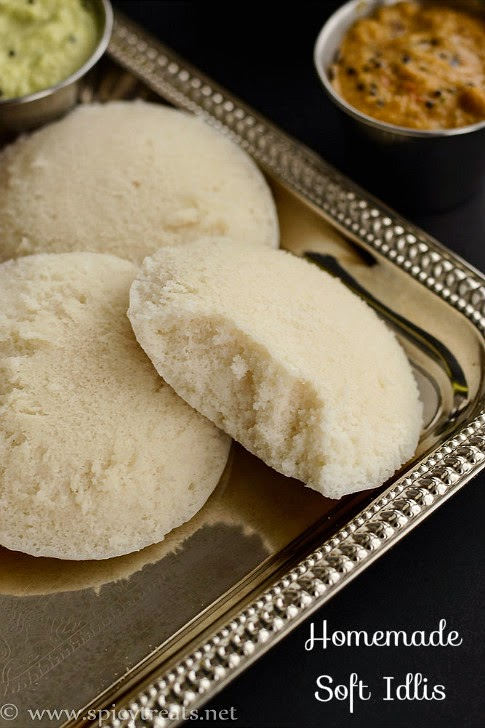 Homemade Soft Idlis