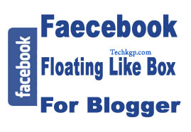 Floating Facebook like Box Widget for Blogger