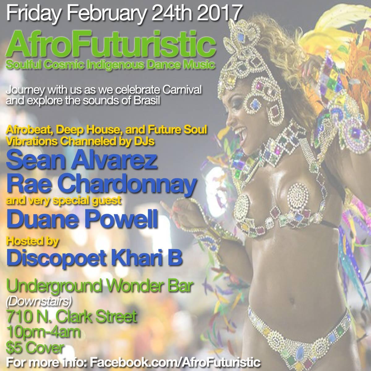 Friday 2/24: AfroFuturistic Celebrates Brasilian Carnival