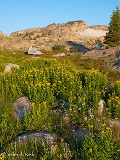 High country camp in the Beartooth Mountains of Montana