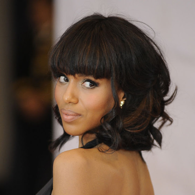 Kerry washington l 39 actrice afro americaine afro coiffure - Coupe afro femme ...
