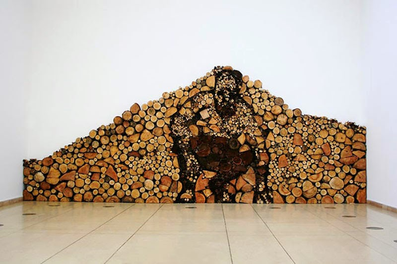 Man Made Of Wood Pile - These People Turned Log Piling Into An Art Form