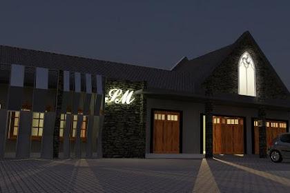 Jasa desain exterior interior studio musik seram